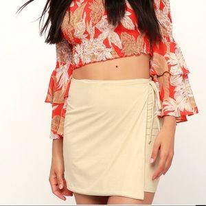 Lulus Suede Wrap mini skirt
